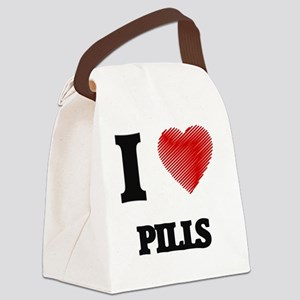 I Love Pills Canvas Lunch Bag