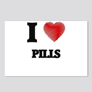 I Love Pills Postcards (Package of 8)