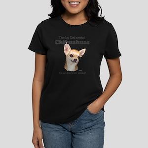 God smiled chihuahuas T-Shirt