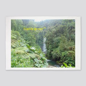 Costa Rica Waterfall 5'x7'Area Rug