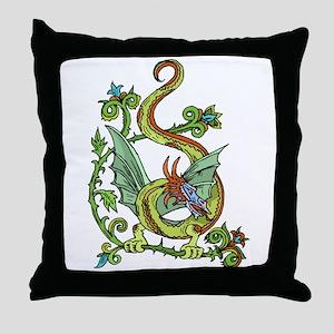 Celtic Dragon 2 Throw Pillow