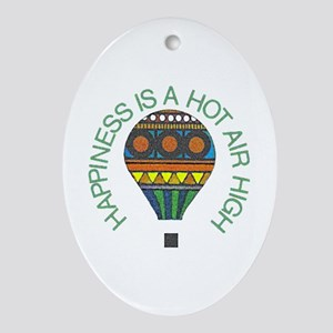 Hot Air High - Oval Ornament