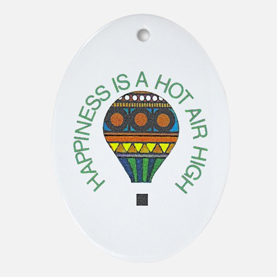Hot Air High - Oval Ornament