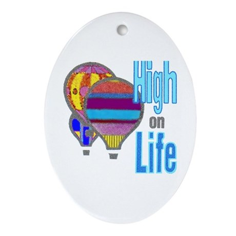 High on Life - Oval Ornament