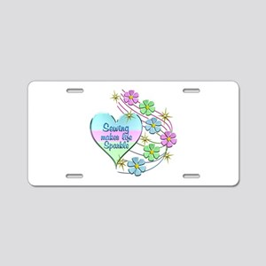 Sewing Sparkles Aluminum License Plate