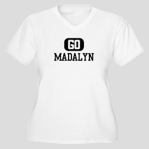 Go MADALYN Women's Plus Size V-Neck T-Shirt