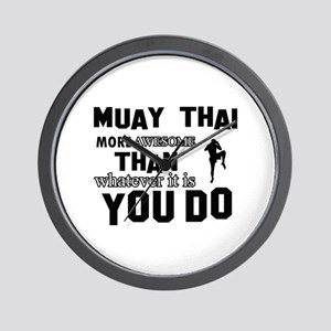 Muay Thai More Awesome Designs Wall Clock