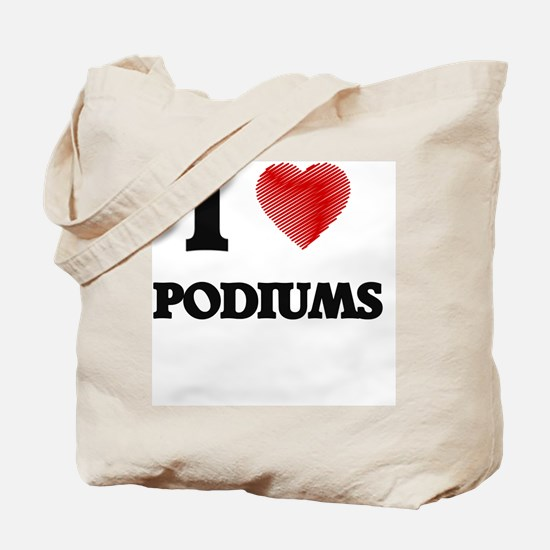 I Love Podiums Tote Bag