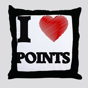 I Love Points Throw Pillow