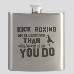 Kickboxing More Awesome Designs Flask