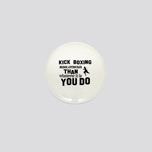 Kickboxing More Awesome Designs Mini Button