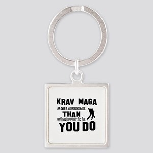 Krav Maga More Awesome Designs Square Keychain