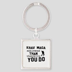 Krav Maga More Awesome Designs Square Keychain