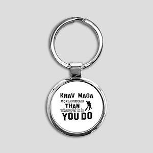 Krav Maga More Awesome Designs Round Keychain