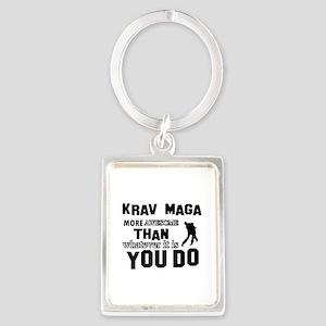 Krav Maga More Awesome Designs Portrait Keychain