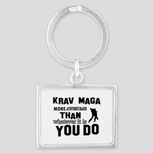 Krav Maga More Awesome Designs Landscape Keychain