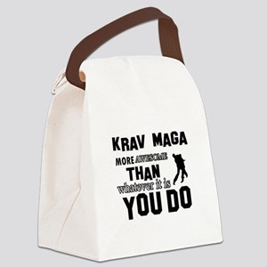 Krav Maga More Awesome Designs Canvas Lunch Bag