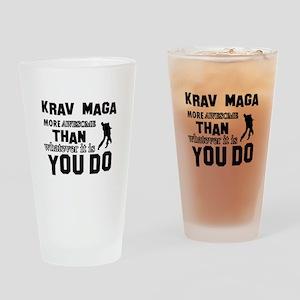 Krav Maga More Awesome Designs Drinking Glass
