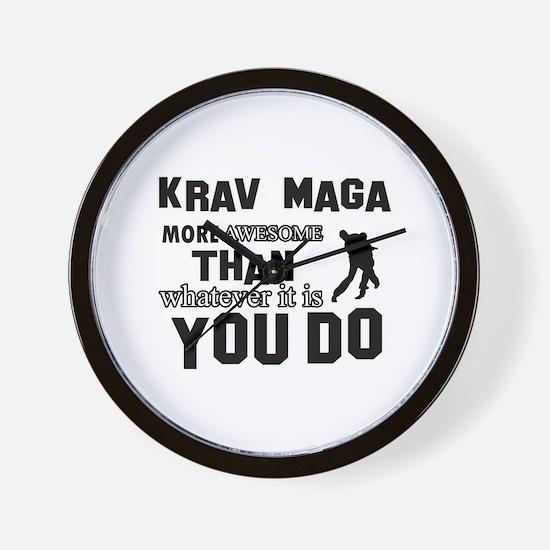 Krav Maga More Awesome Designs Wall Clock