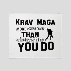 Krav Maga More Awesome Designs Throw Blanket