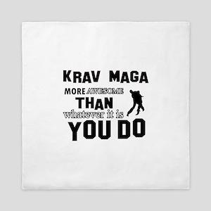 Krav Maga More Awesome Designs Queen Duvet