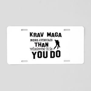 Krav Maga More Awesome Desi Aluminum License Plate