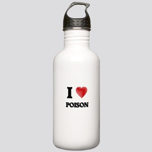 I Love Poison Stainless Water Bottle 1.0L