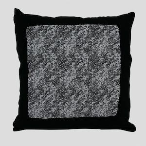 GREY DIGI CAMO Throw Pillow