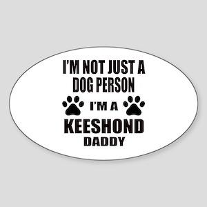 I'm a Keeshond Daddy Sticker (Oval)