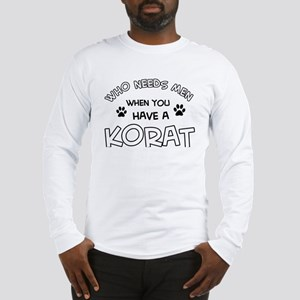 Korat Cat Designs Long Sleeve T-Shirt