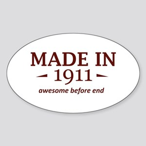 Made in 1911 Sticker (Oval)
