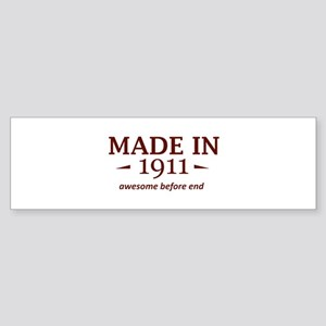 Made in 1911 Sticker (Bumper)