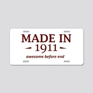 Made in 1911 Aluminum License Plate