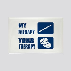 Clarinet My Therapy Rectangle Magnet