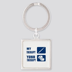 Bassoon My Therapy Square Keychain