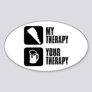 Pan Flute My Therapy Sticker (Oval)