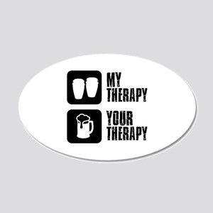 Congas My Therapy 20x12 Oval Wall Decal