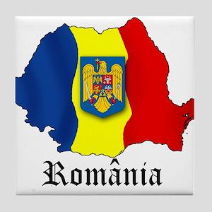 Romania arms Tile Coaster