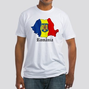 Romania arms Fitted T-Shirt