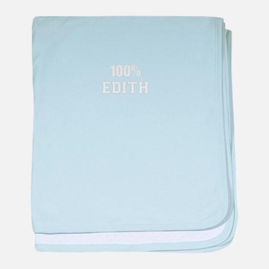 100% EDITH baby blanket