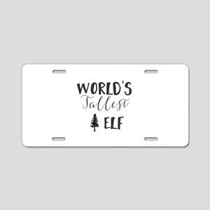 World's Tallest Elf Aluminum License Plate