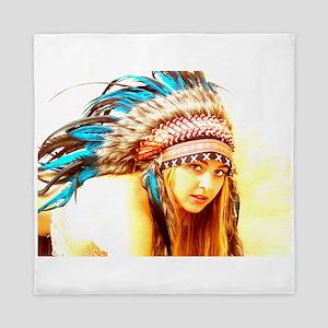 Indian warrior 12 Queen Duvet