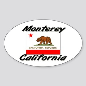 Monterey California Oval Sticker