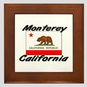 Monterey California Framed Tile