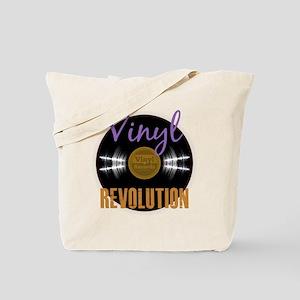 Vintage Vinyl Revolution Album Tote Bag