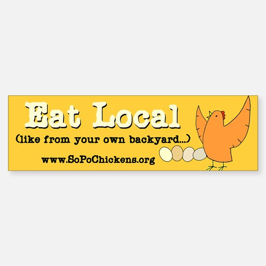 Eat Local Bumper Bumper Bumper Sticker