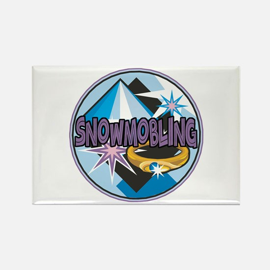 Funny Snowmobile Rectangle Magnet