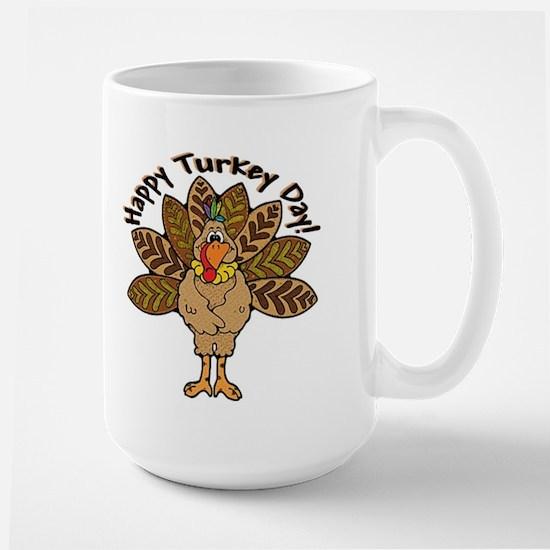 Happy Turkey Day Large Mug