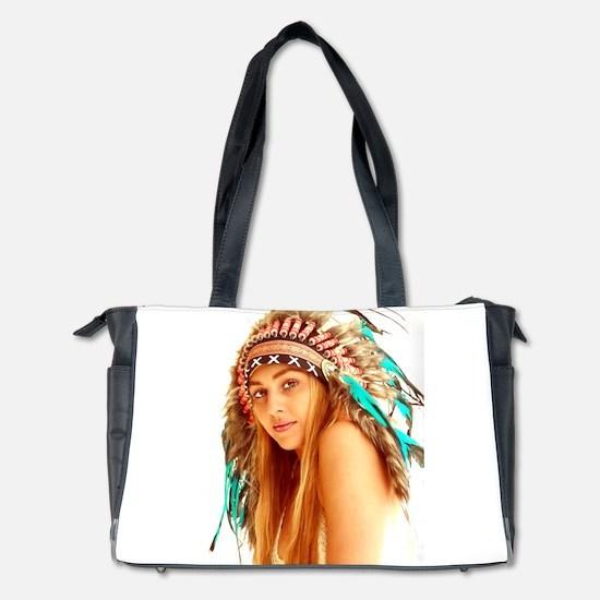 Indian warrior 27 Diaper Bag