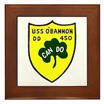 USS O'Bannon (DD 450) Framed Tile